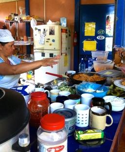 Breakfast at Centro Espiral Mana