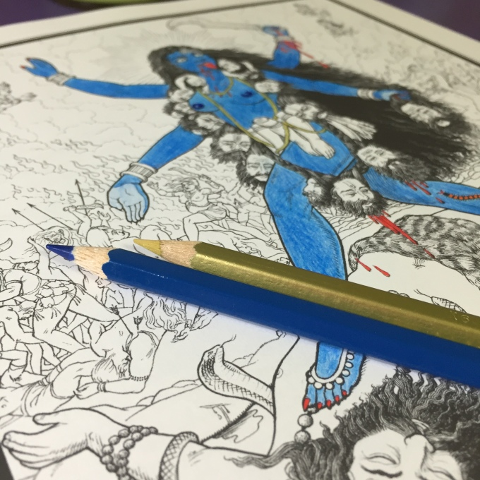Kali from The Shakti Coloring Book