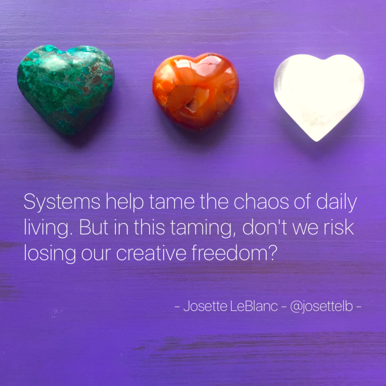 Frameworks, formulas, modalities, systems. They serve us well. Whether it's a lesson planning framework you use to teach a language skill, or the set of rules you follow within your religion, systems help tame the chaos of daily living. But in this taming, don't we risk losing our creative freedom of self-expression?